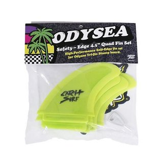 Catch Surf Odysea Safety Edge Quad Fin Set Lime