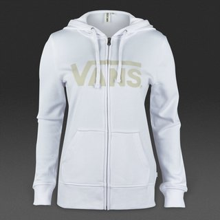 Vans Authentic Zip Hoodie Girls - White