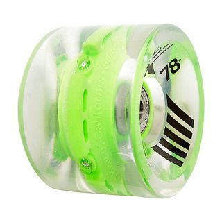 Sunset - Flare LED Wheels - 69mm/78a - Green