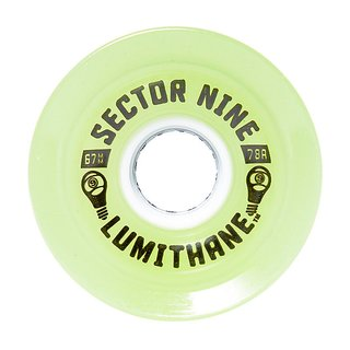 Sector 9 Lumithane wheels green 67mm